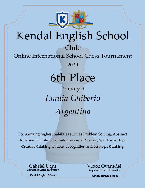 Emilia Ghiberto diploma