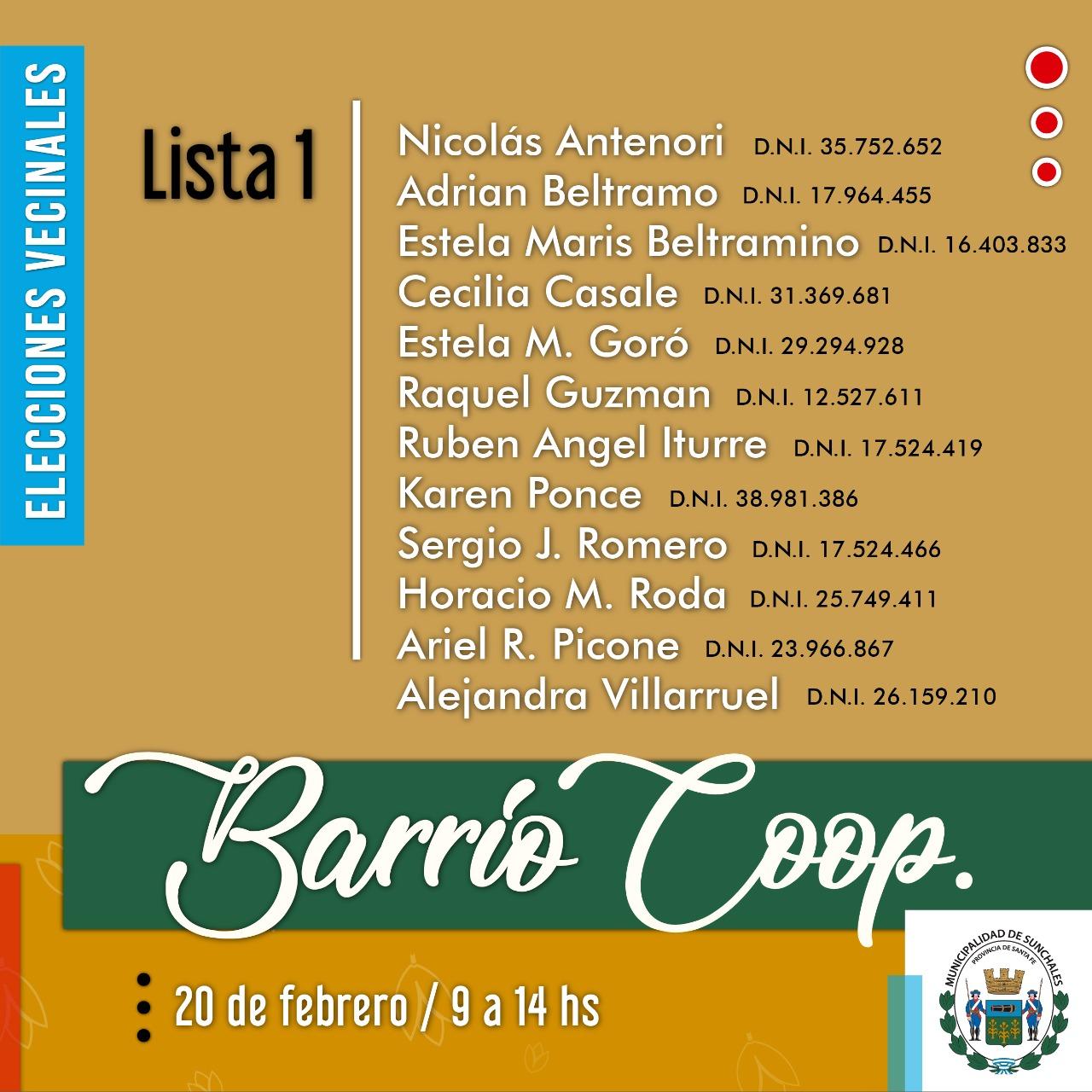 Lista 1 Coop