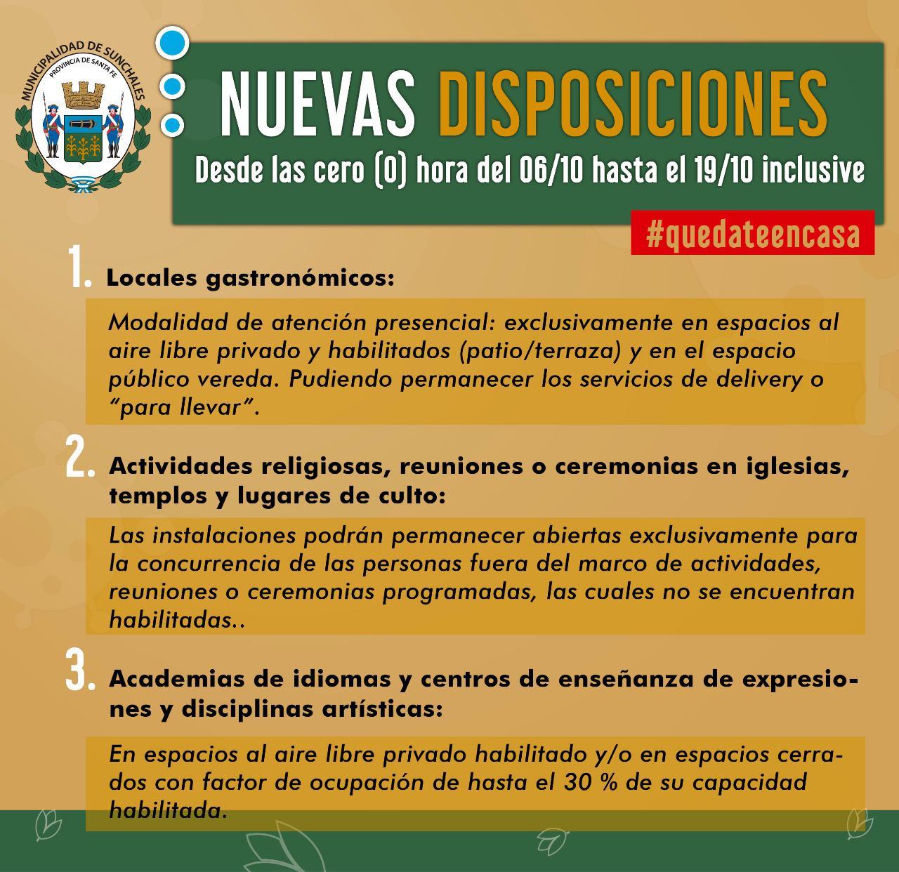 Nuevas disposiciones - 5-10-20 - 2