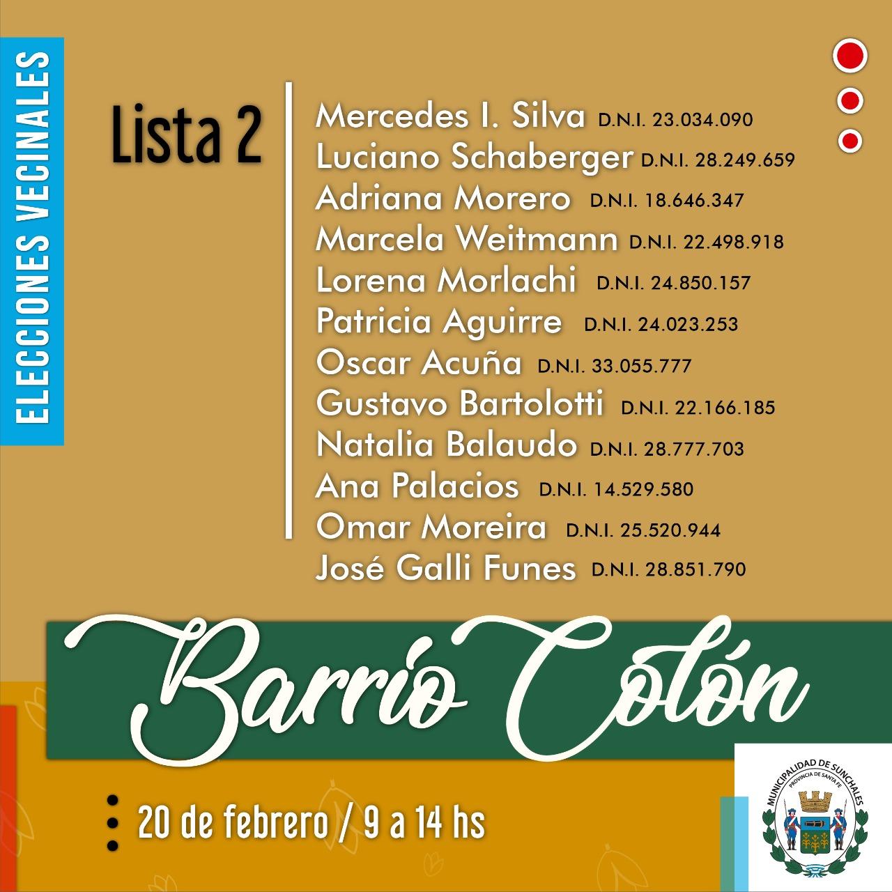 Lista 2 Colón