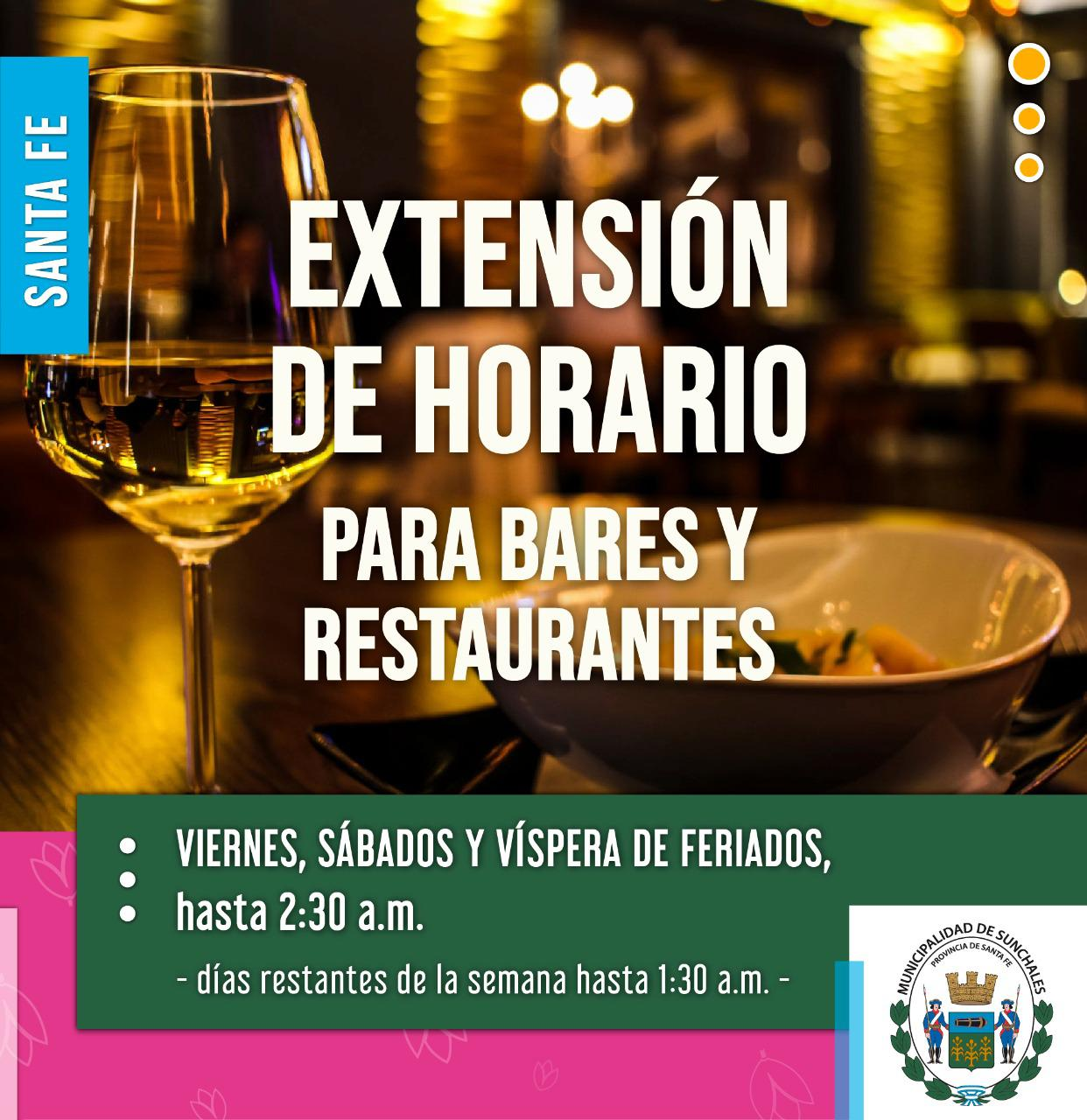 Extension horario bares